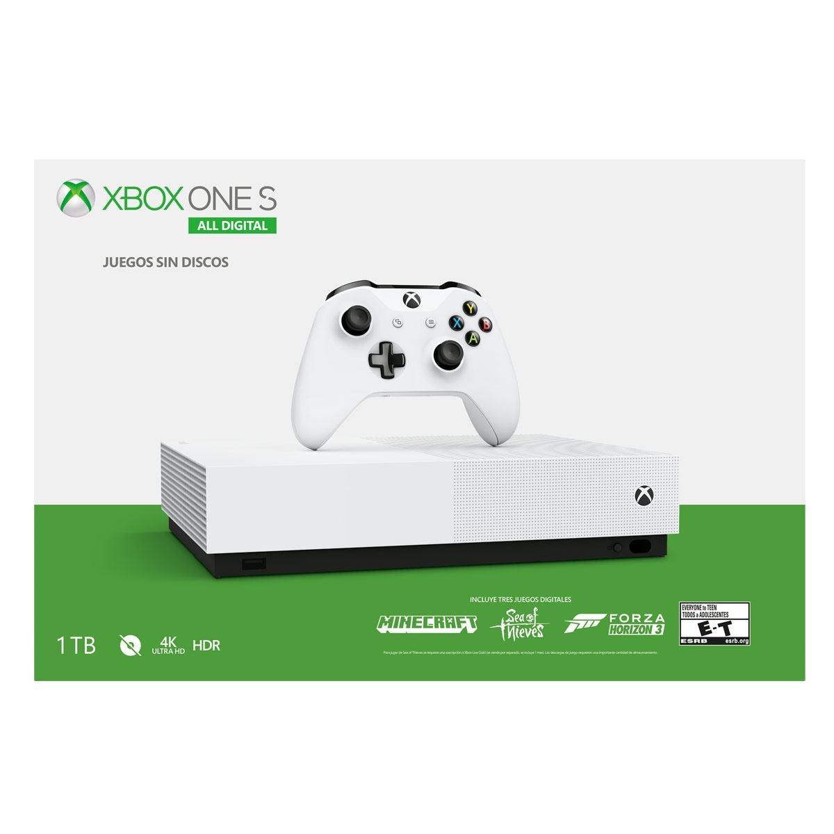 Consola Xbox One S Blanco All Digital 2