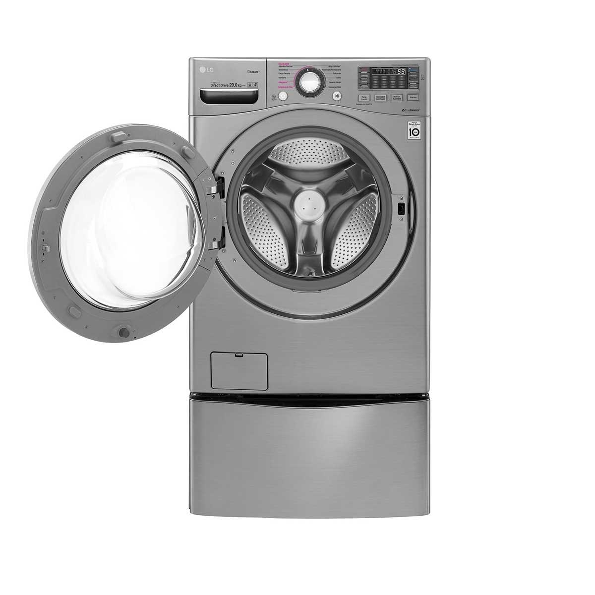 Lavadora Frontal 20 Kg Compatible con Twinwash de 3.5Kg Lg