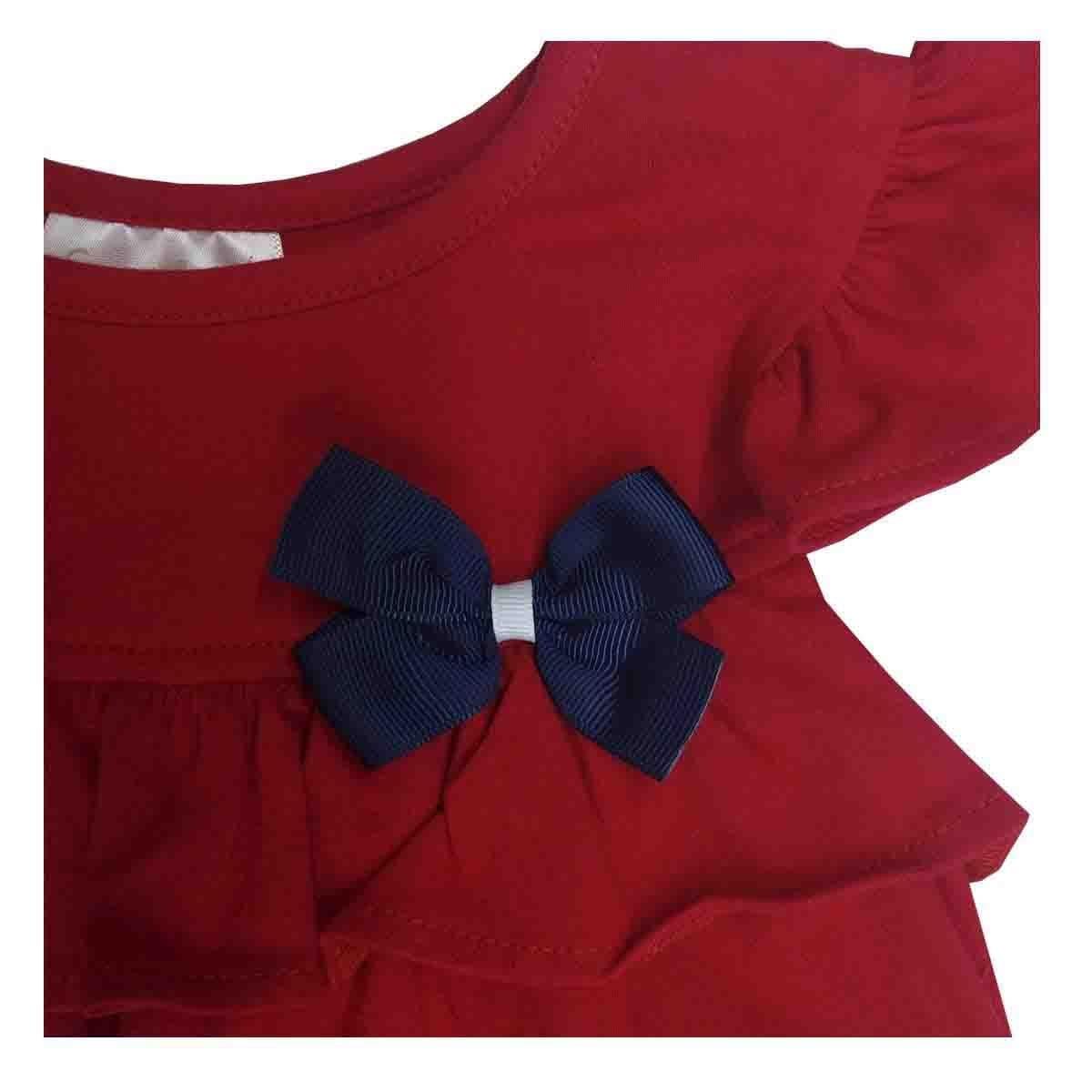 Vestido Rojo con Moño Coccolato
