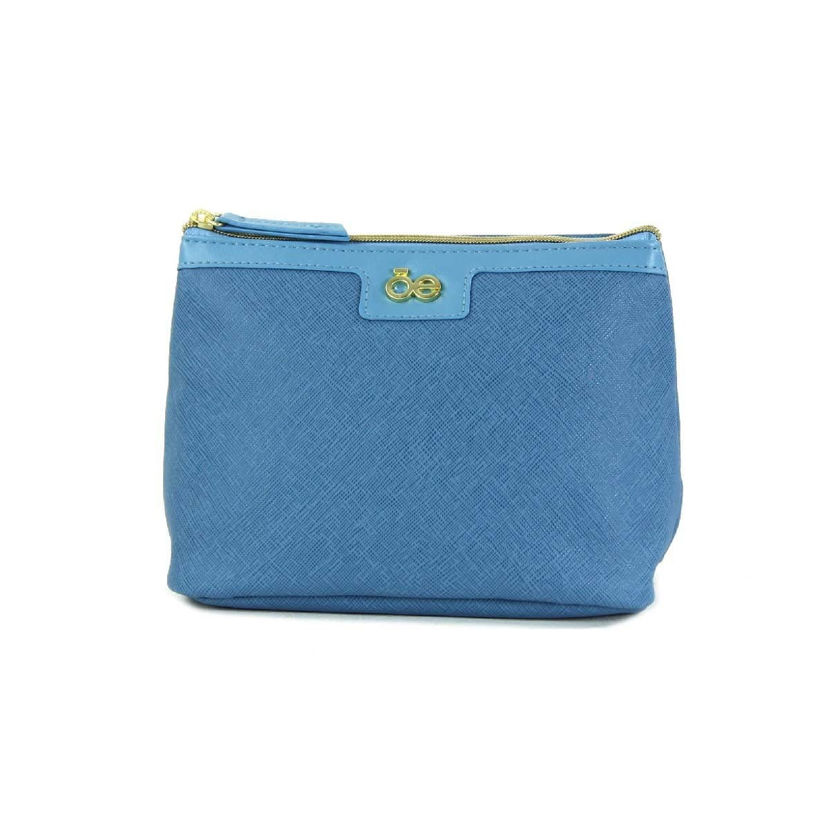 Cosmetiquera Safiano Azul Celeste Cloe