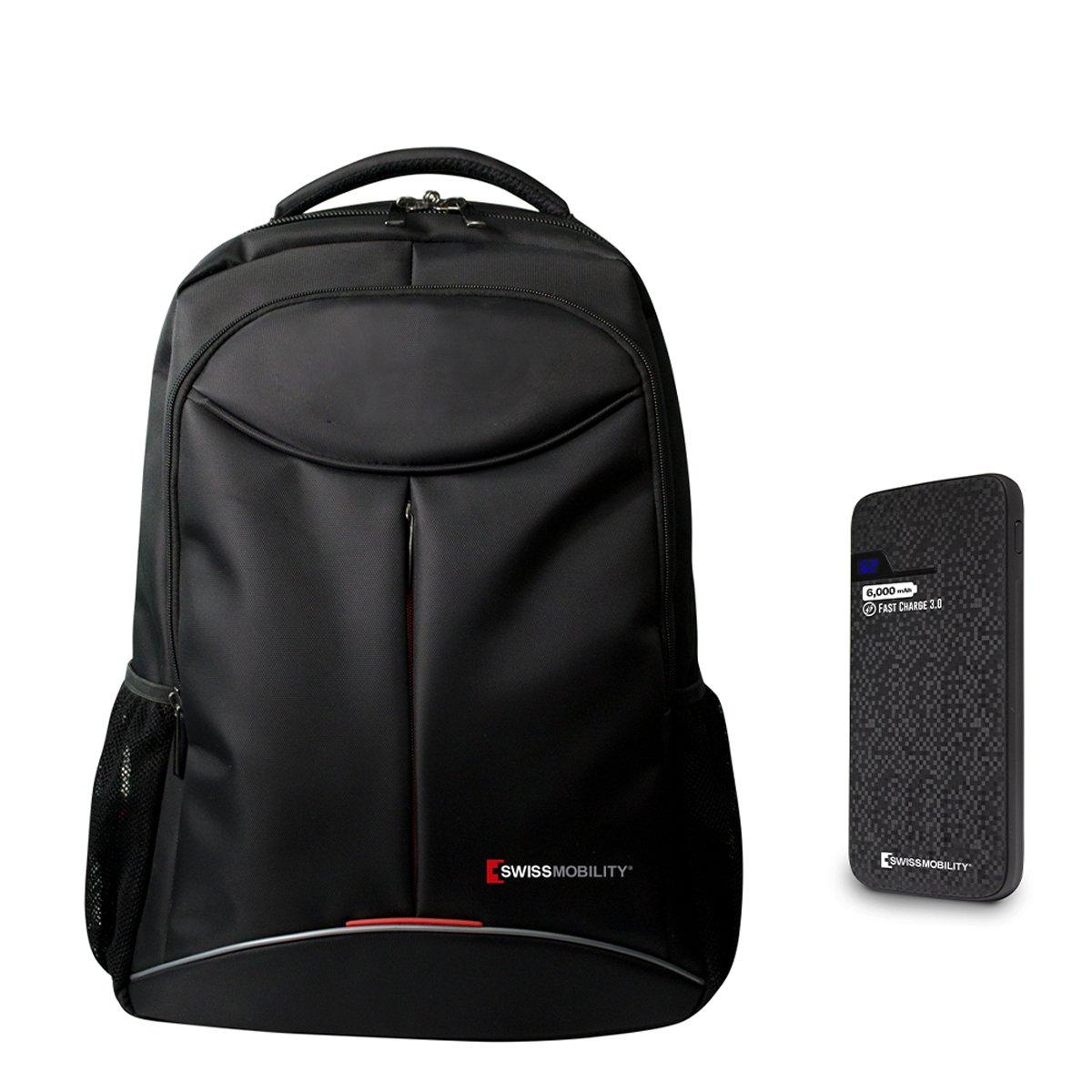 Bundle Mochila Portalaptop Tig-115Bk+ Batería Portátil 6000Mah Swissmobility
