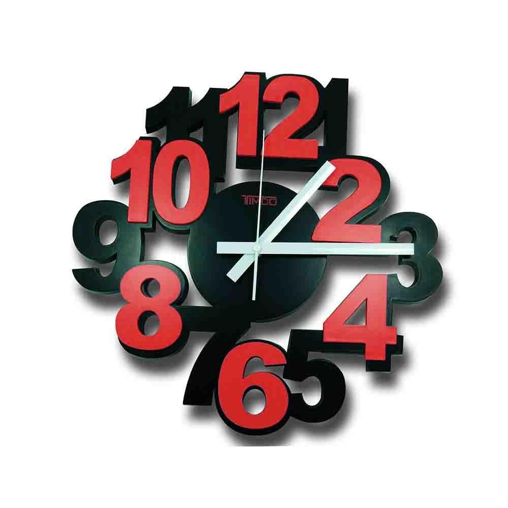 Reloj de Pared Color Rojo Timco