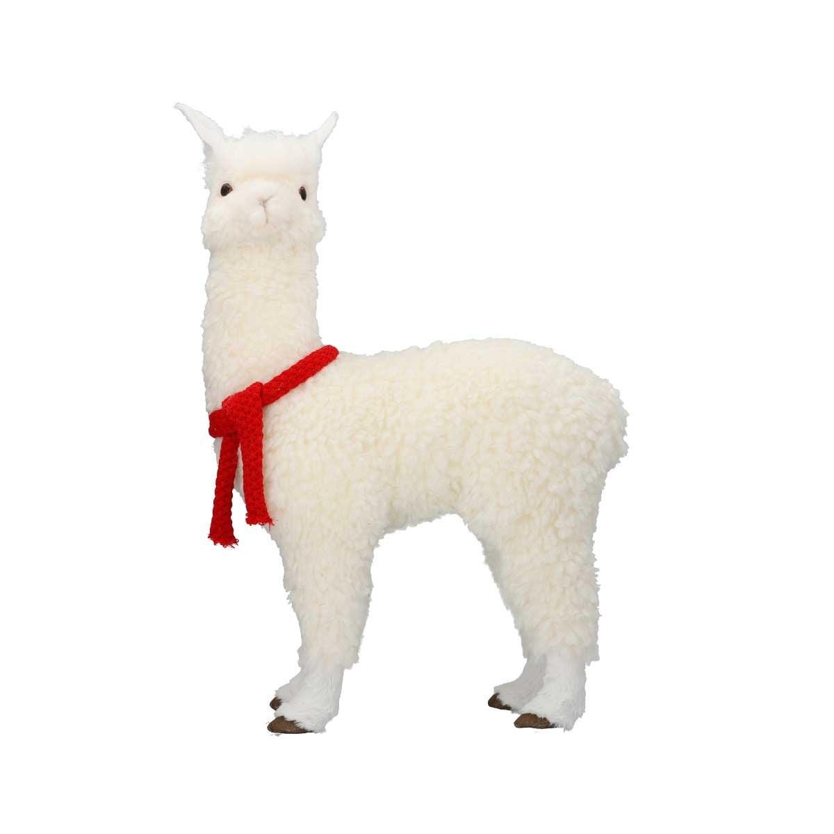 Alpaca Blanca con Bufanda Roja 62 Cm.