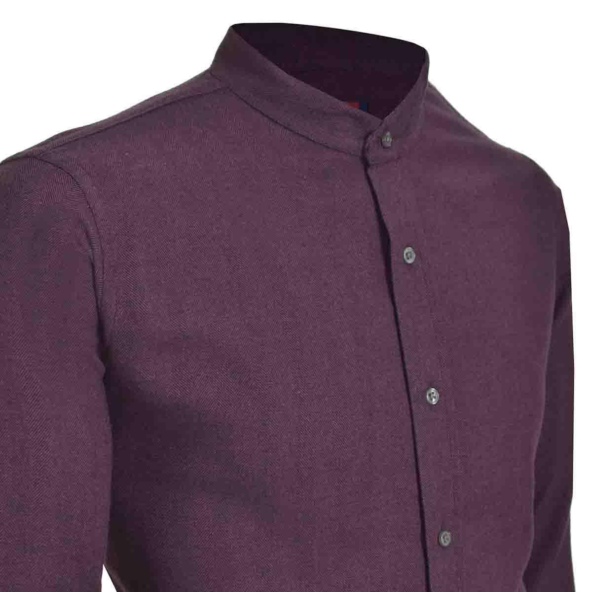 Camisa Casual Rojo Manga Larga Slim Fit Carlo Corinto