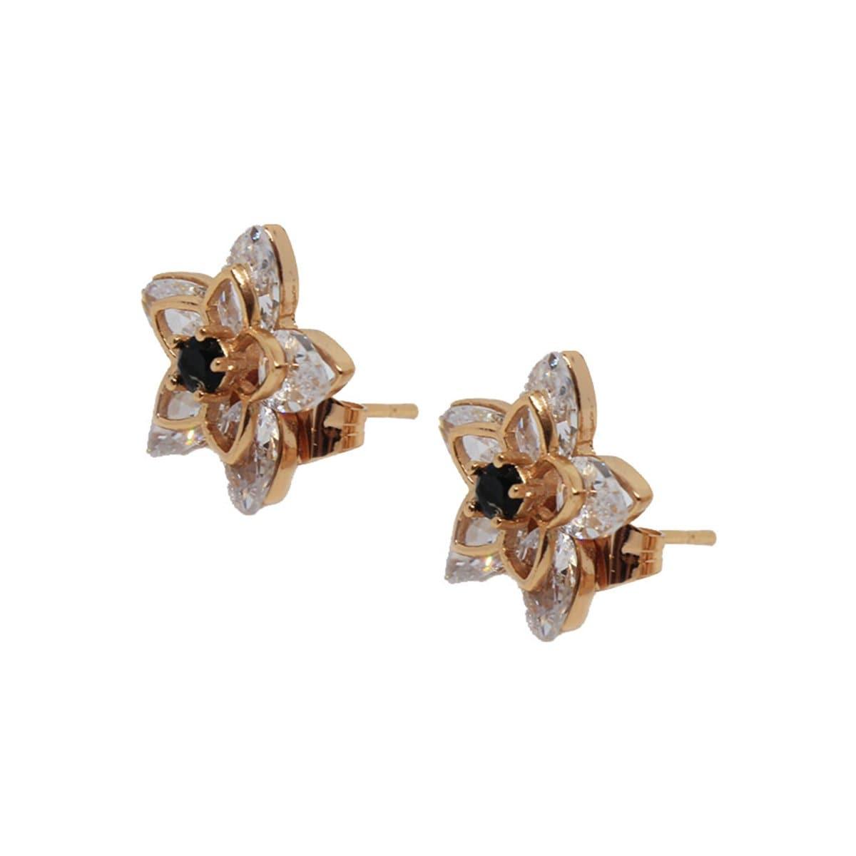 Broquel Flor con Cristales. Oro Angelus