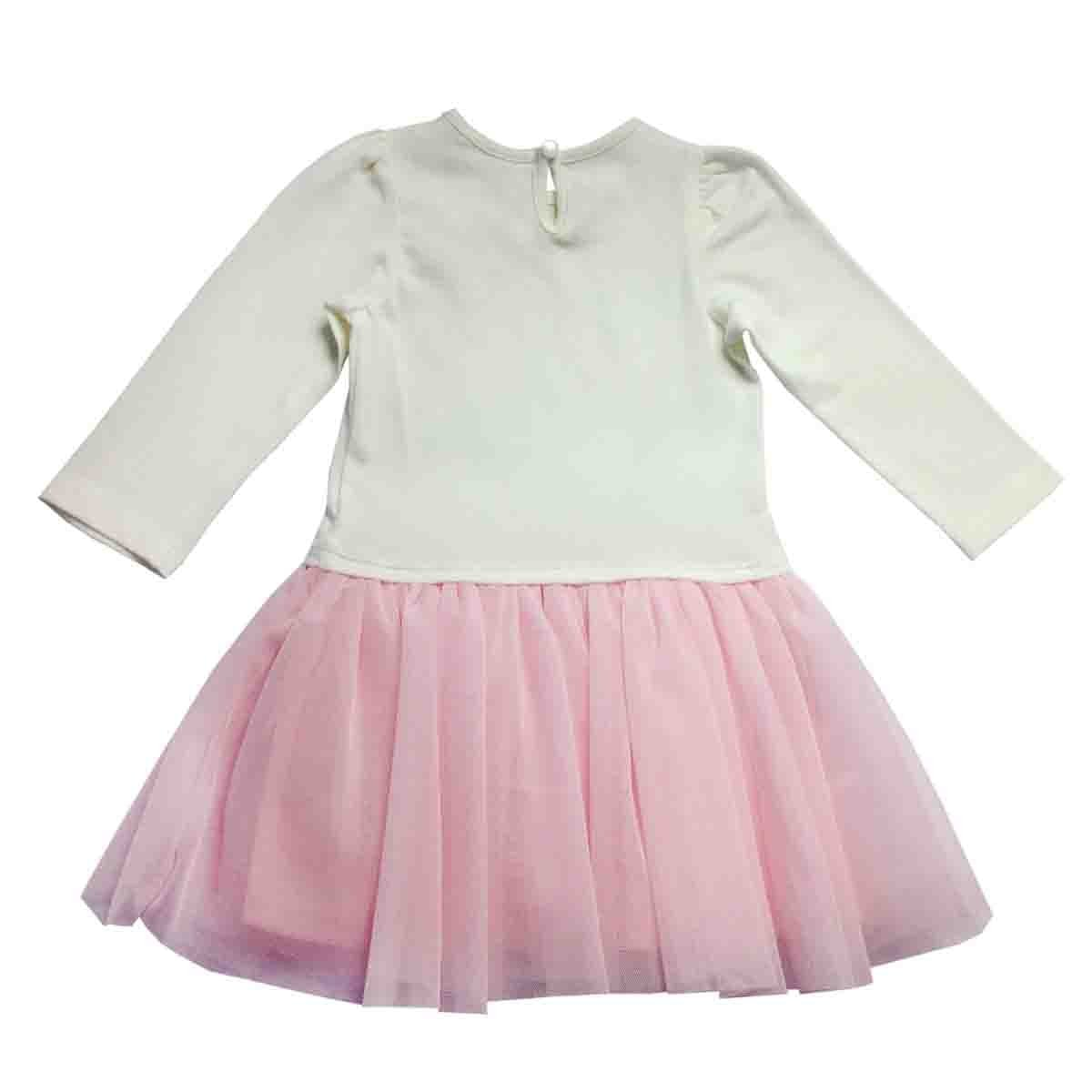 Vestido Manga Larga con Aplique Baby Let´s Go