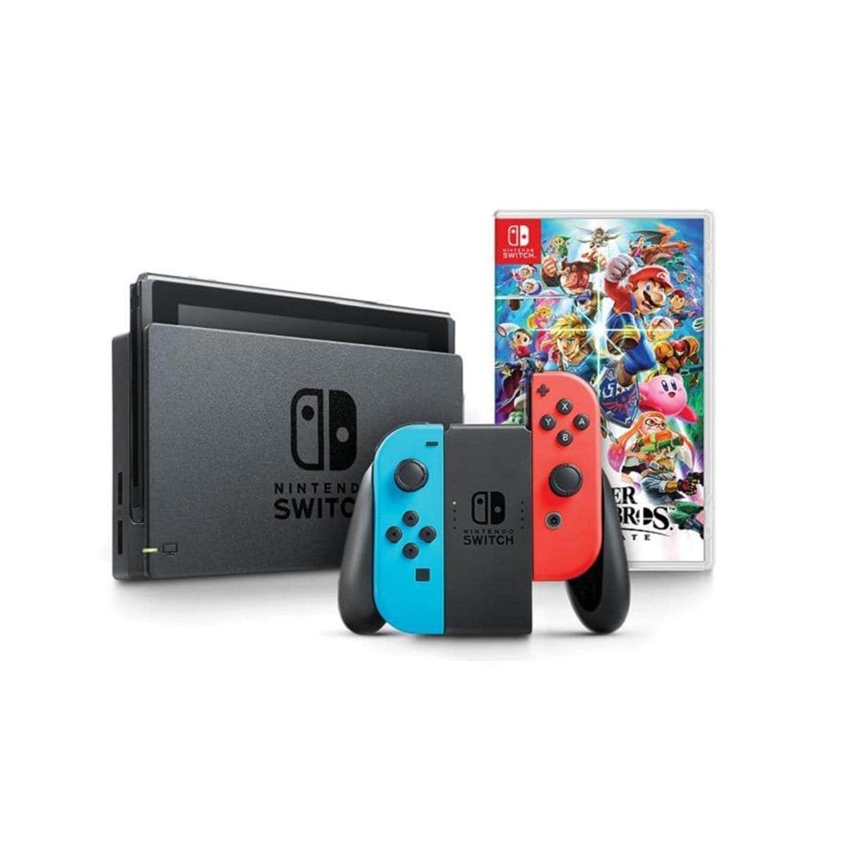 Consola Nintendo Switch Int Neon + Super Smas Bros Ultimate