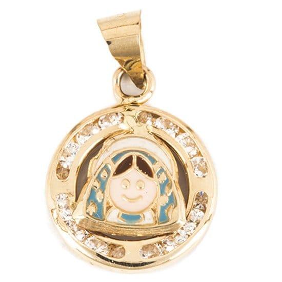 Mini Dije Virgen de Guadalupe en Oro 14K Sini
