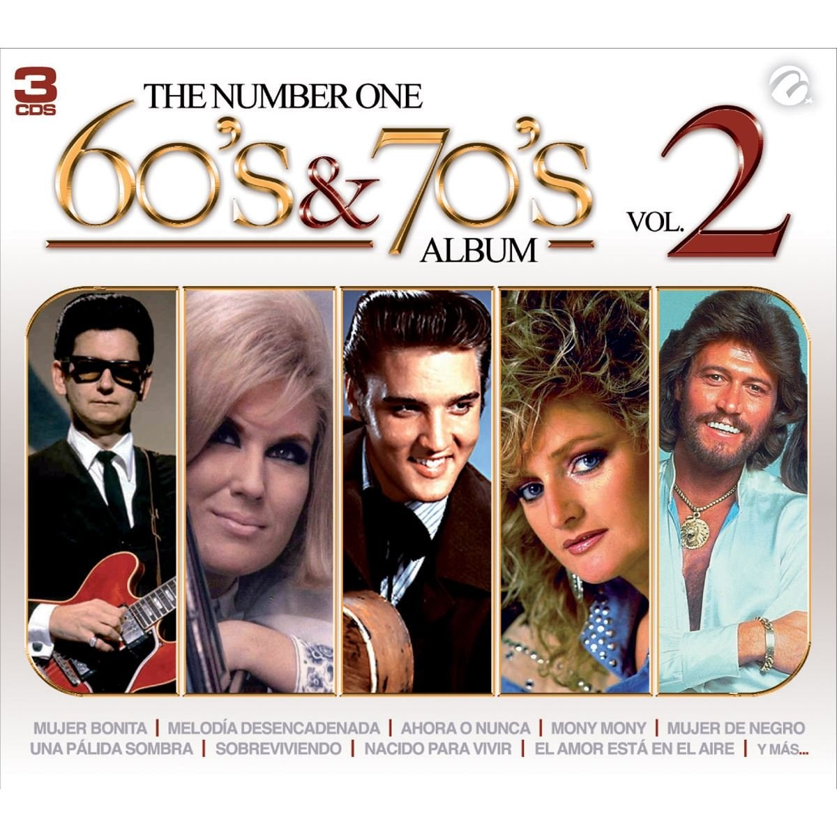 3 Cds The Number One 60S 70S Volumen 2