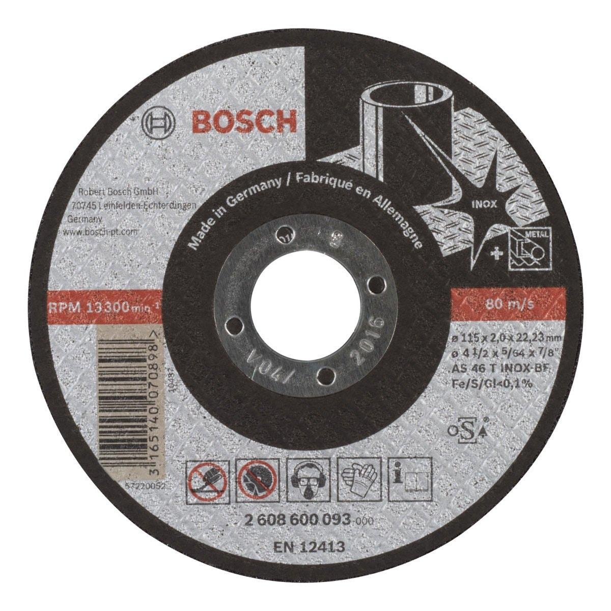 "Disco Corte Inox 4 1/2"" X 5/64"" X 7/8"" Bosch"