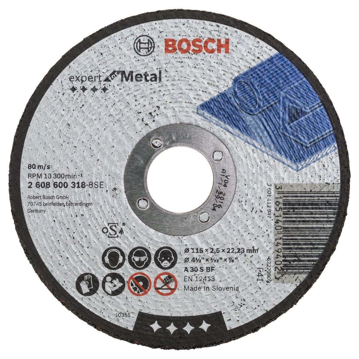 "Disco Corte Metal 4 1/2"" X 1/8"" X 7/8"" Bosch"