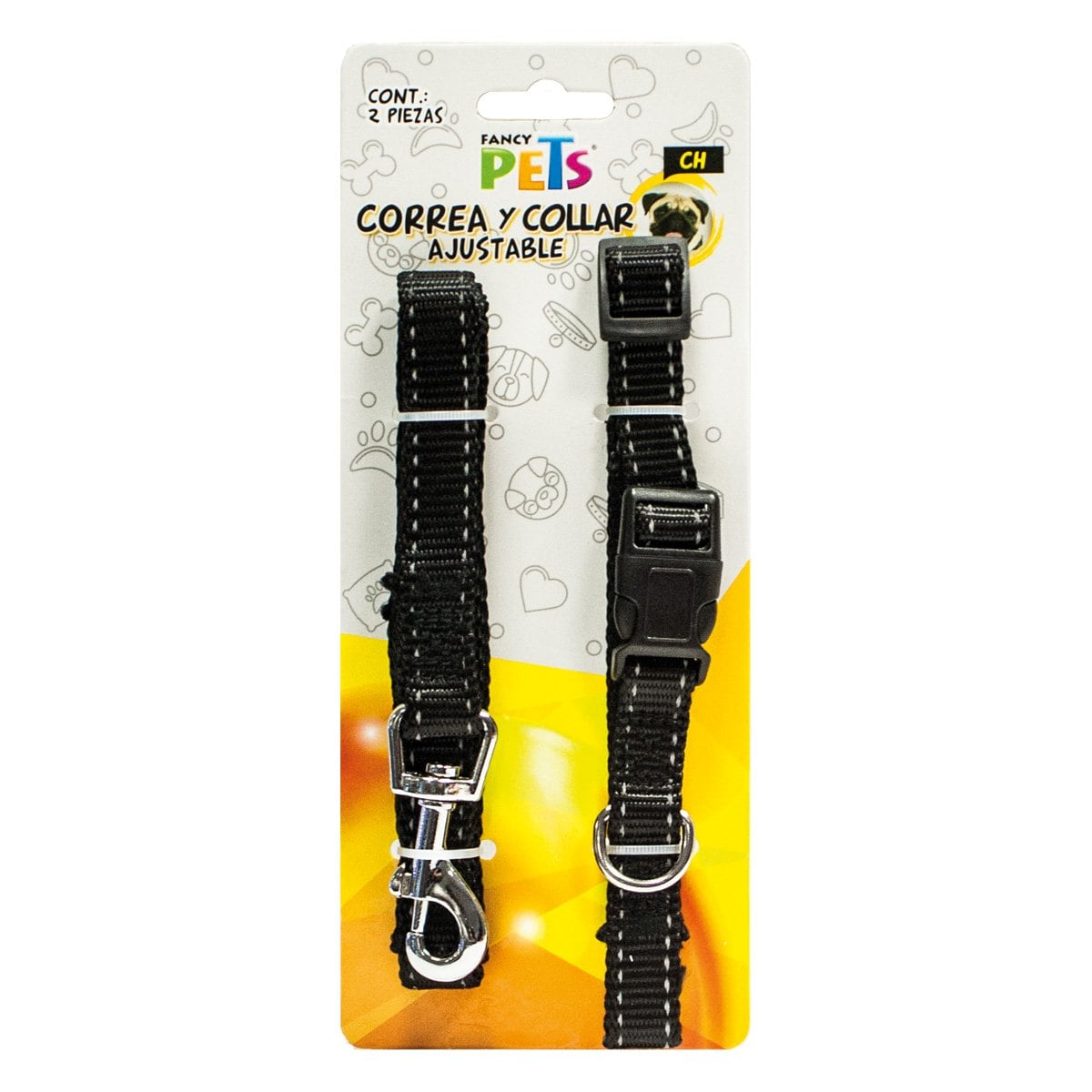 Correa/collar Nylon Bandas Reflejantes Ch