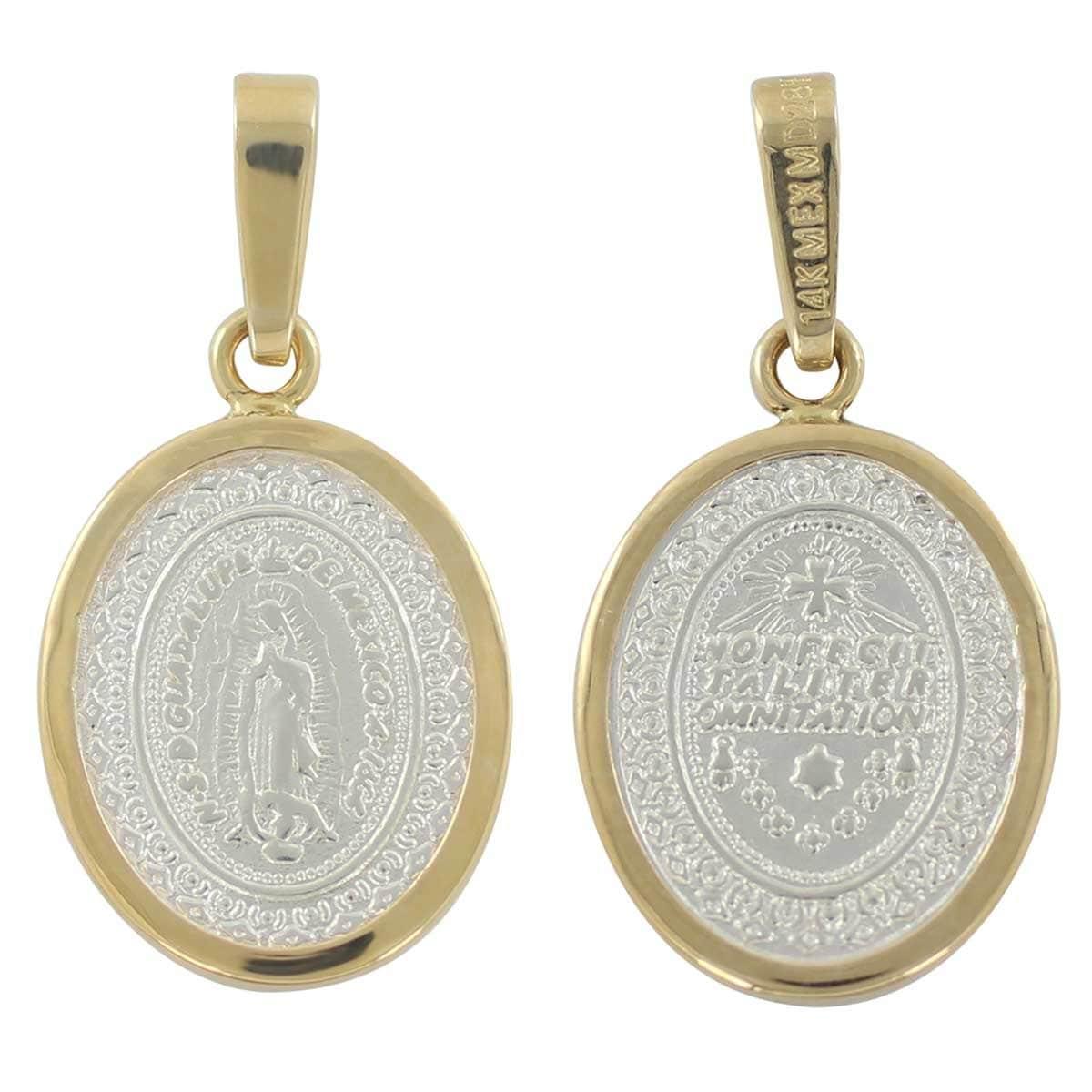 5d805f3f43e0 Medalla virgen de guadalupe con bisel de 14k villalpando