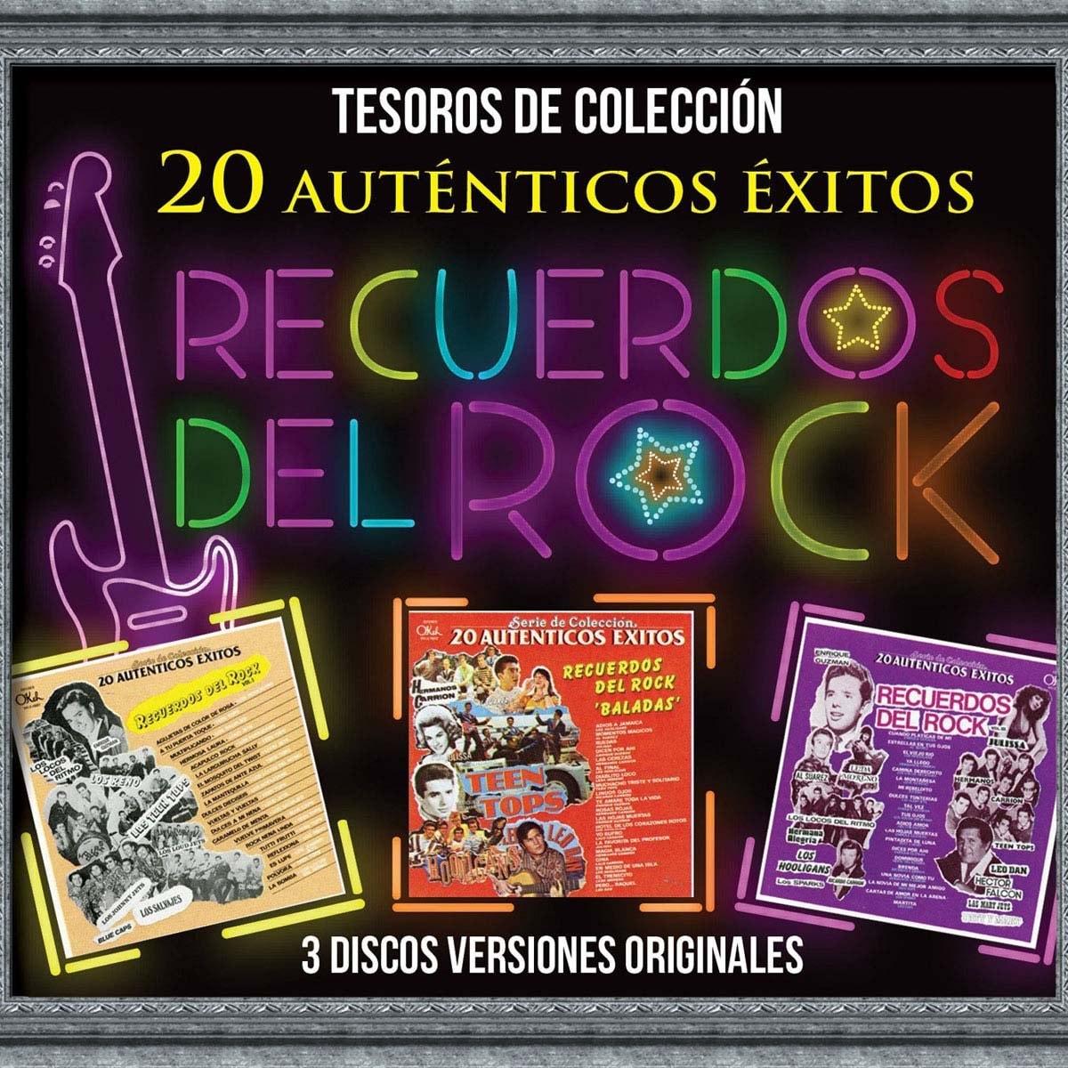 3 Cds 20 Autenticos Exitos Recuerdos Del Rock