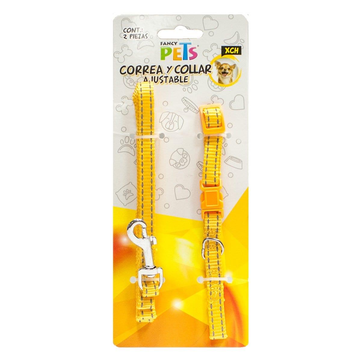 Correa/collar Nylon Bandas Reflejantes Xch Fancy Pets Mod. Fl8709