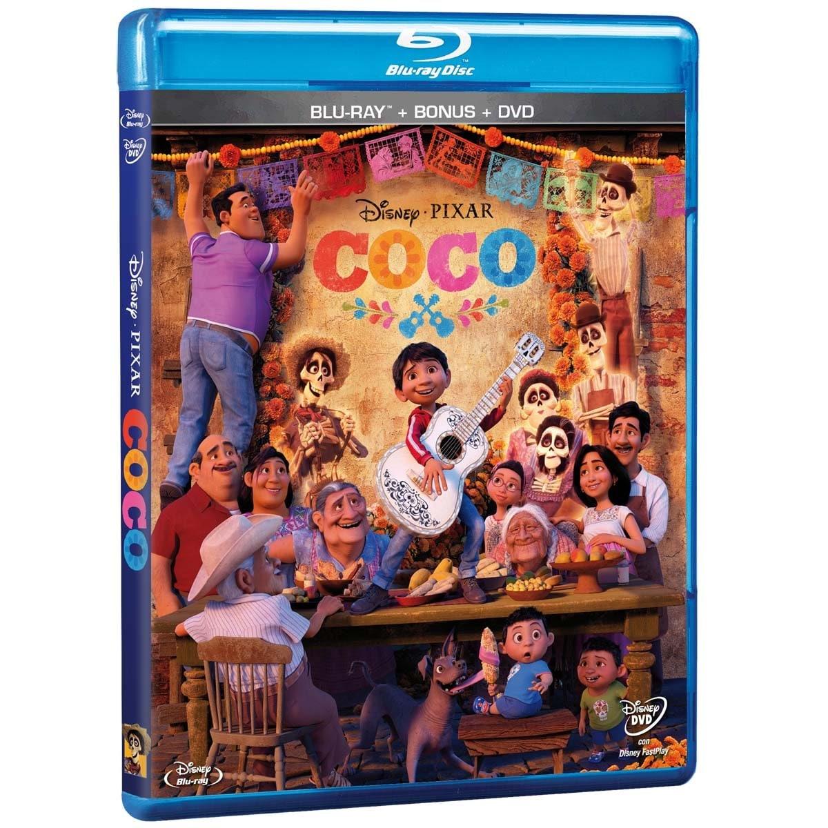 Blu Ray +Dvd + Bonus Coco