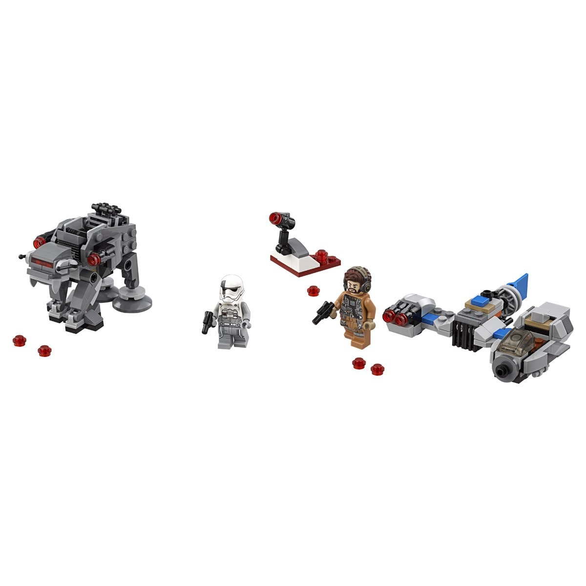 Microfighters Ski Speeder Vs Caminante de la Primera Orden Lego