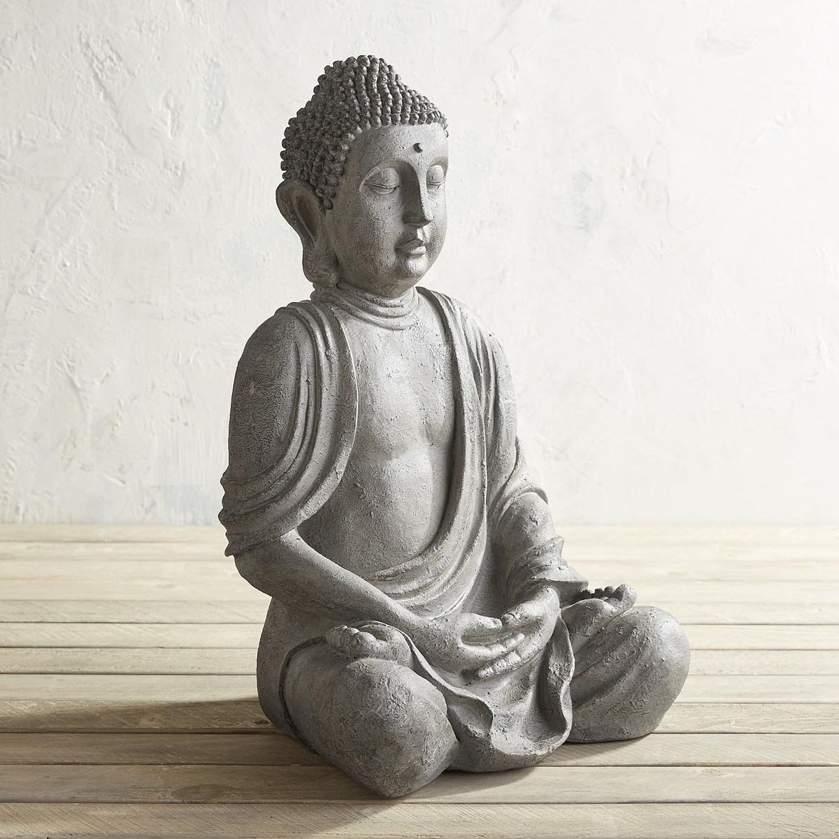 Figura Decorativa Buddha Sentado Gray Pier 1 Imports