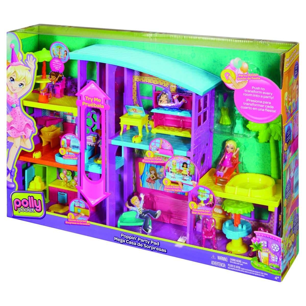 Casa Pocket Mega Sorpresas Mattel Polly De 5ARjL34