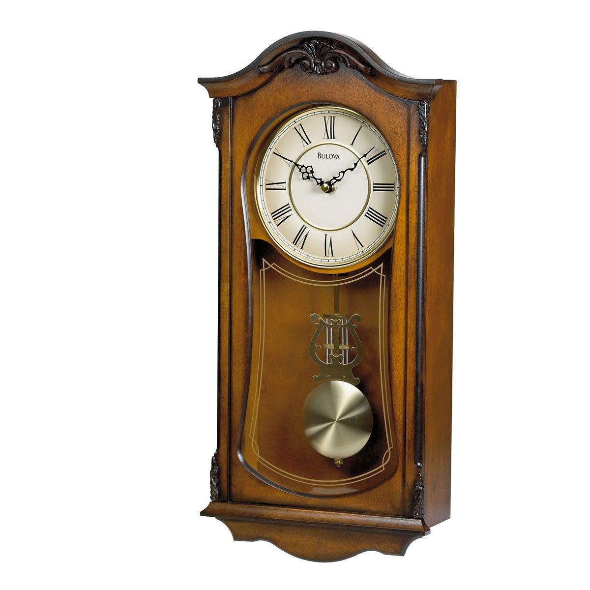 Reloj Bulova de Pared, Madera Sólida