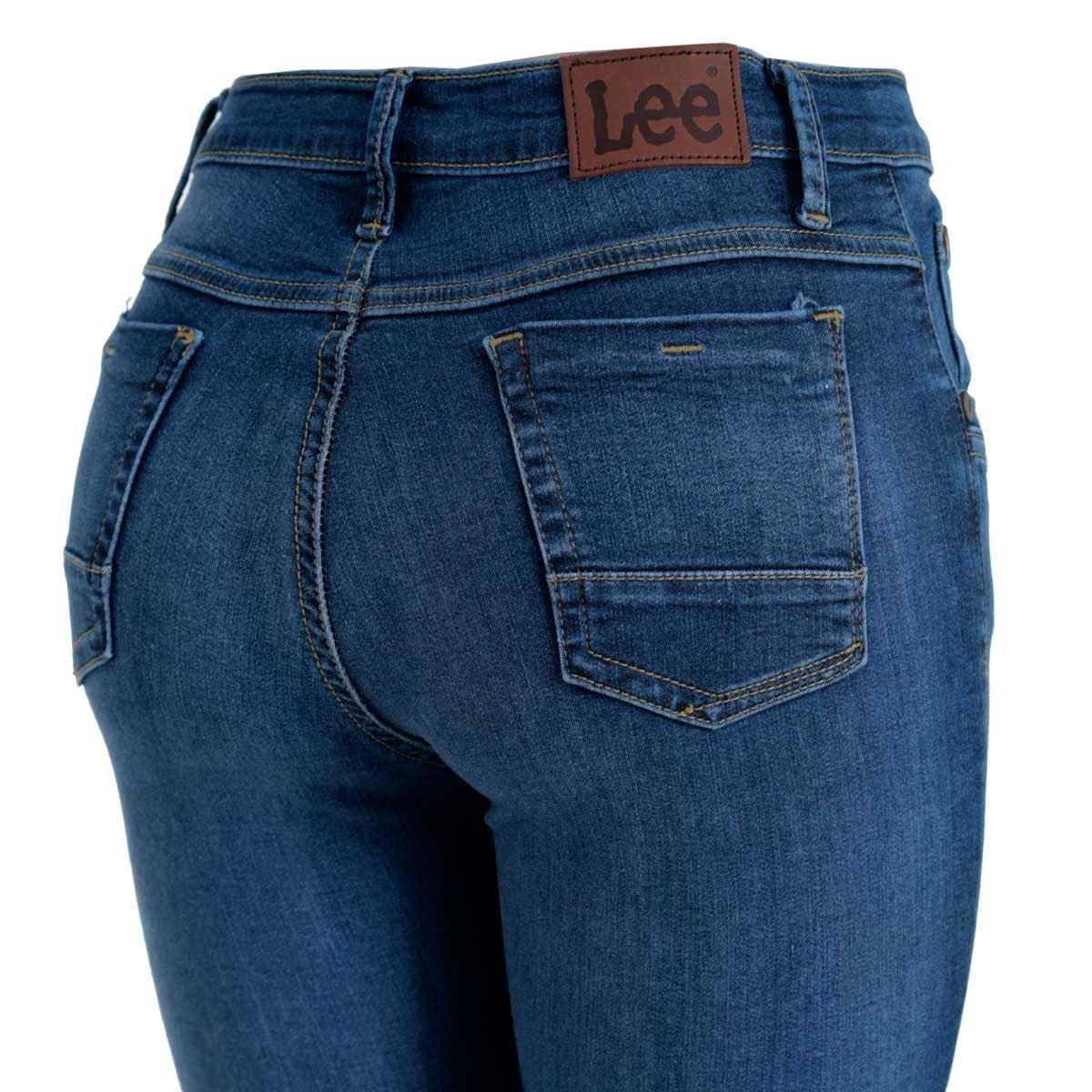 Jeans Skinny Cintura Alta Lee