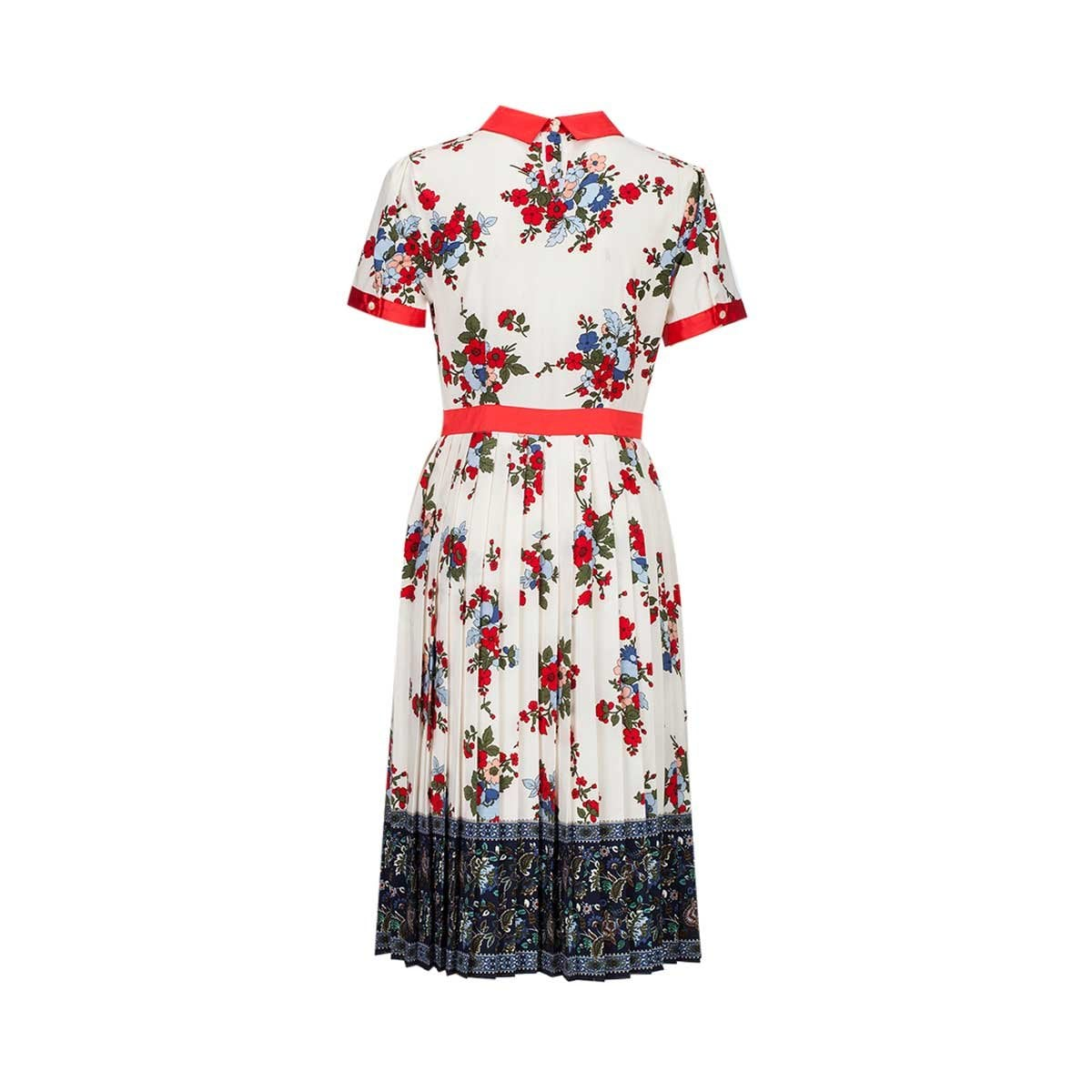 Vestido de Flores con Vivos C2C