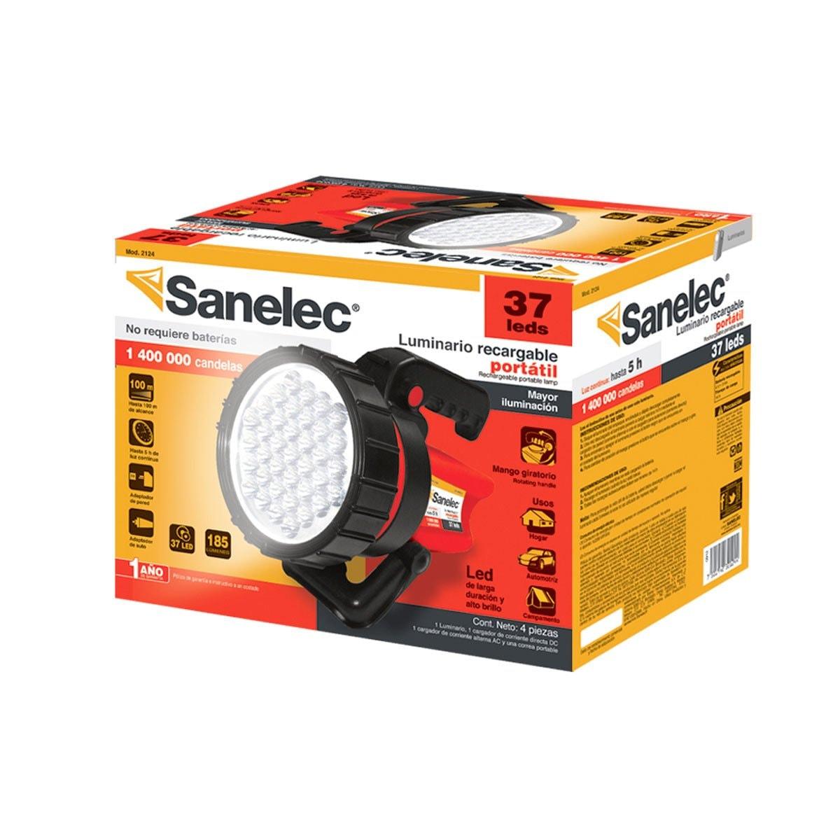 Sanelec 2124 Linterna Reflectora 37 Leds
