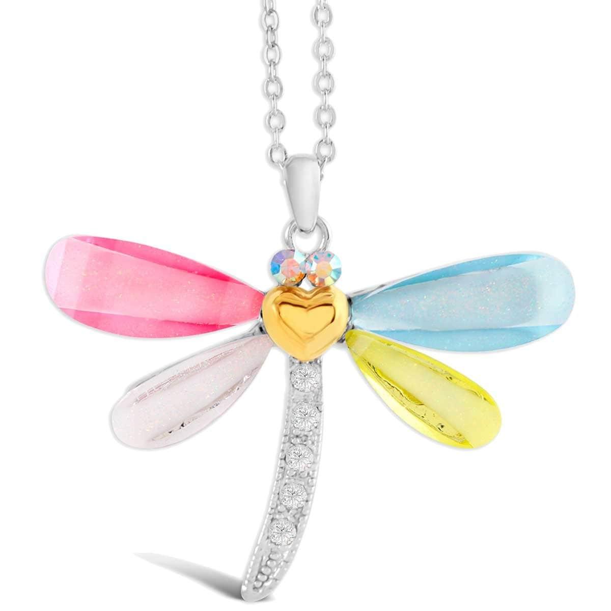 Dije Libélula Multicolor con Swarovksi Forever Crystals