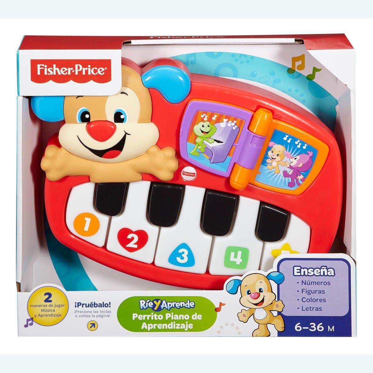 Fisher Price Ríe y Aprende Perrito Piano de Aprendizaje Mattel