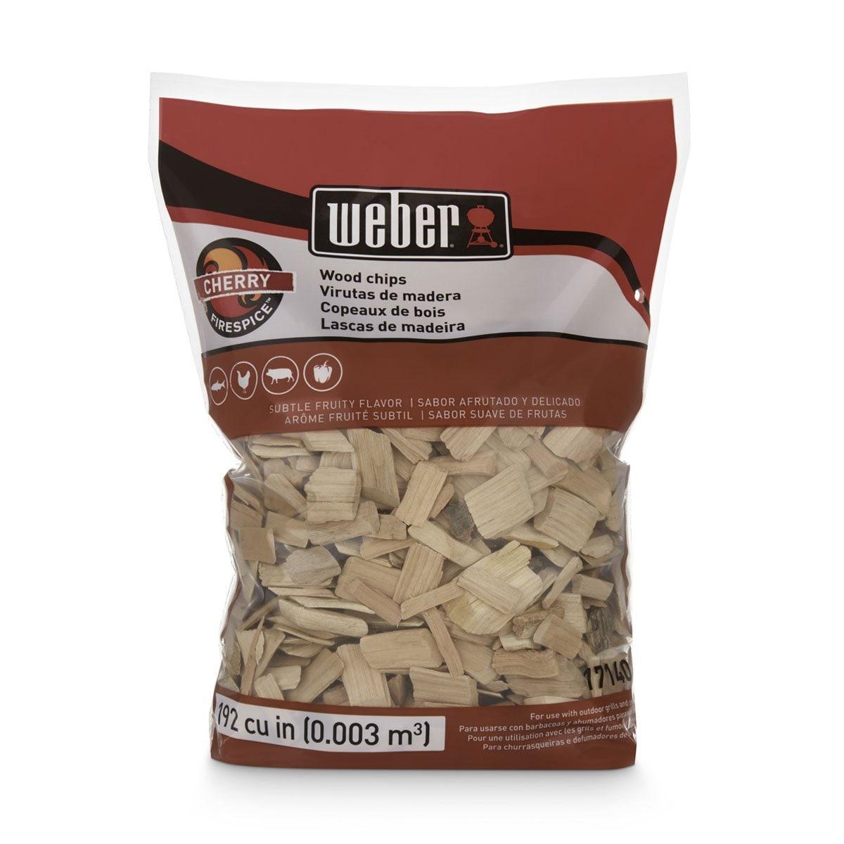Astillas de Madera Cerezo 2 Libras Weber