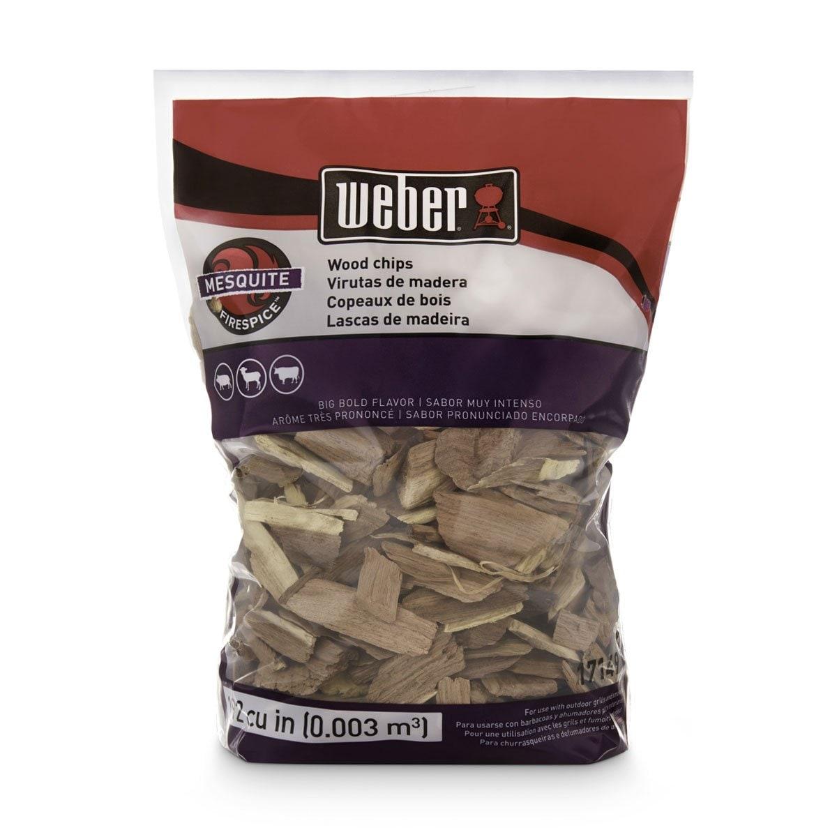 Astillas de Madera Mezquite 2 Libras Weber