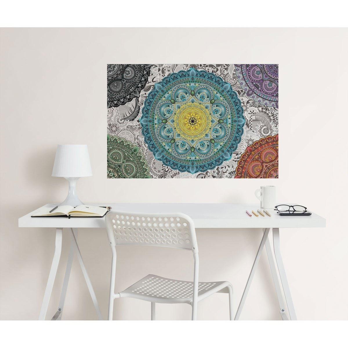 Stiker Decorativo Mandala Colorida Brewster