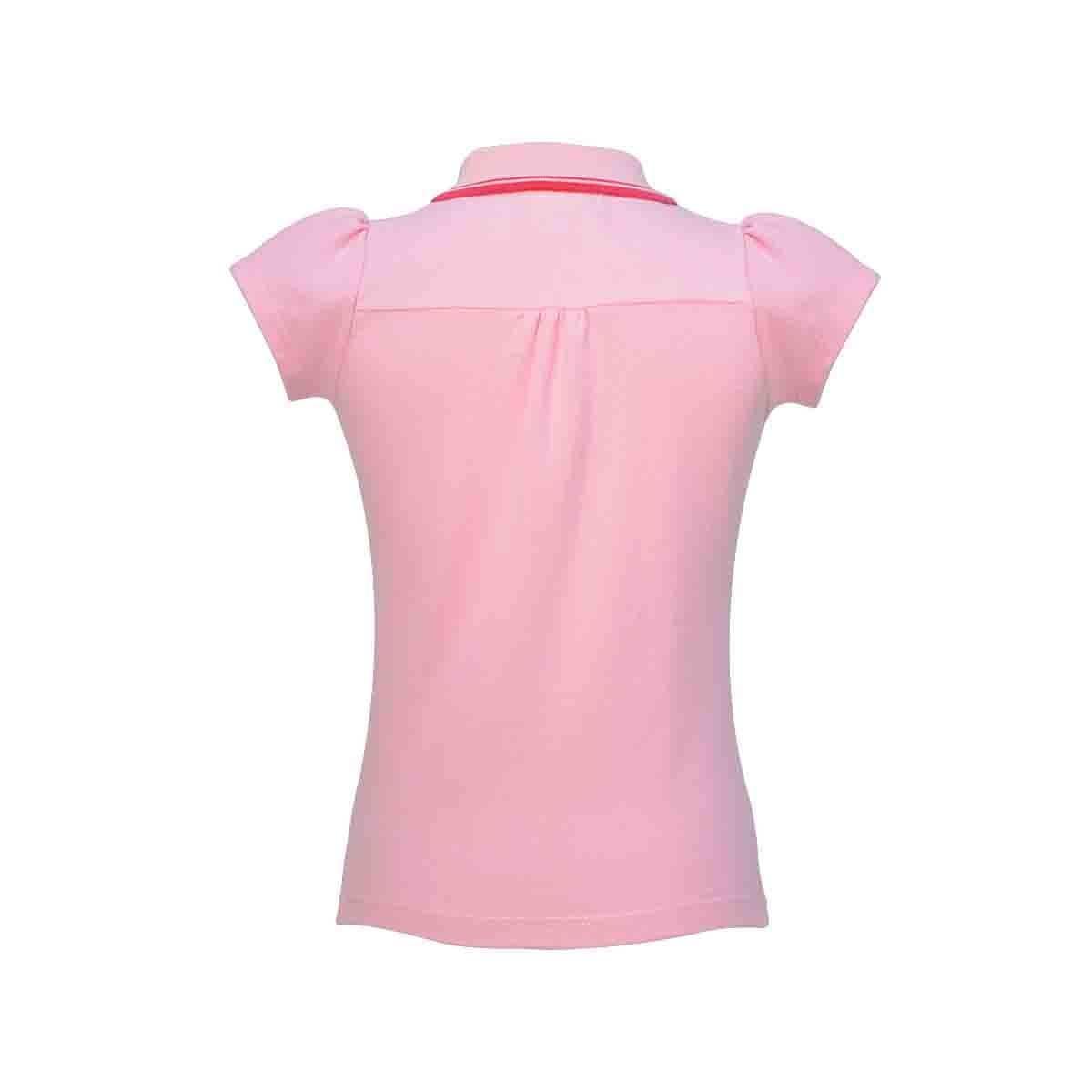 85b0e9311390 Playera con manga corta color rosa claro royal polo club