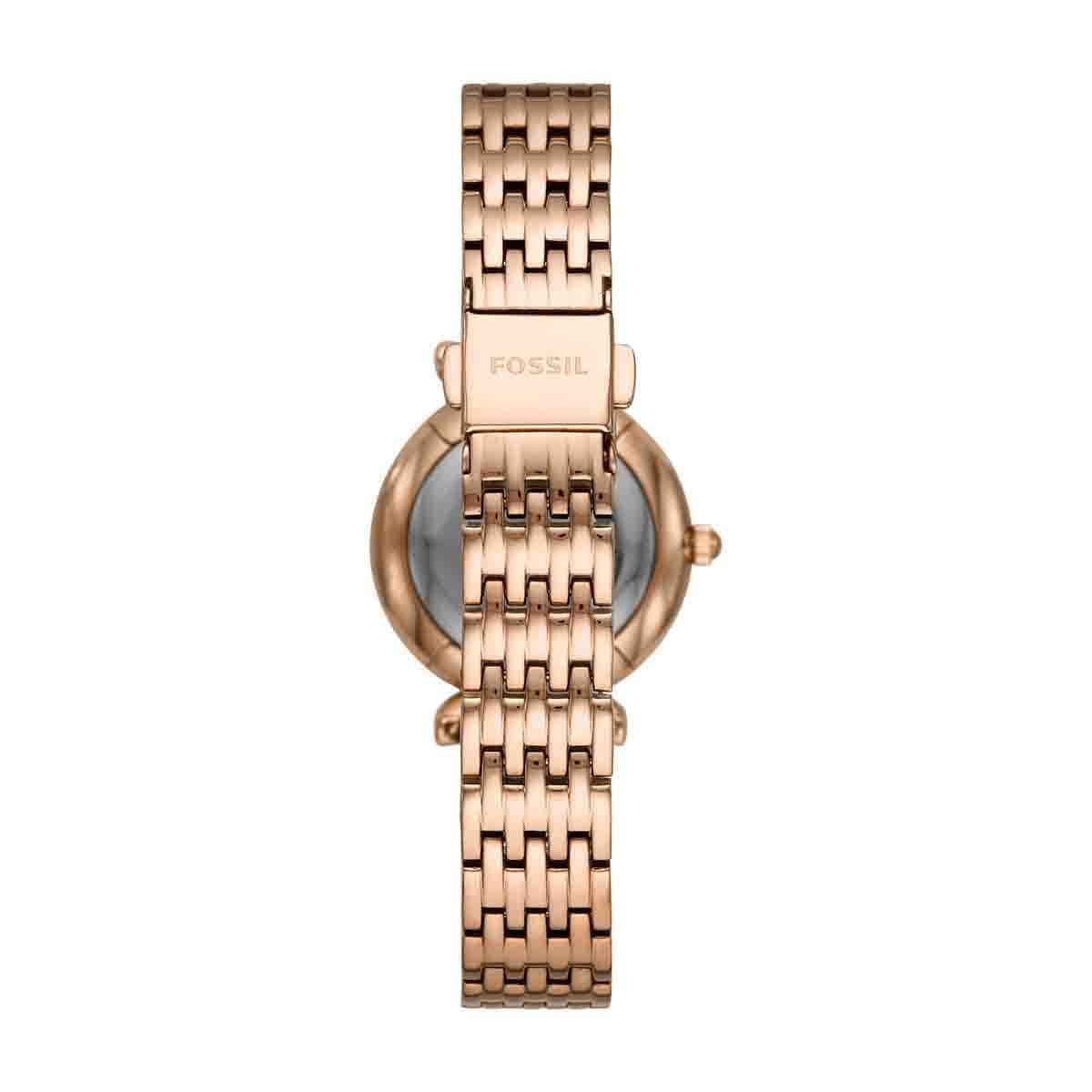 614332a906c1 Reloj para dama color oro rosado fossil