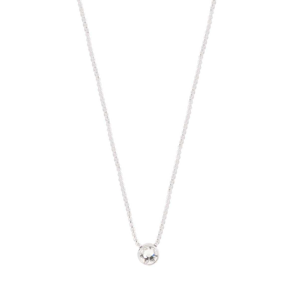 Collar Plateado de Rodio Swarovski  Forever Crystals