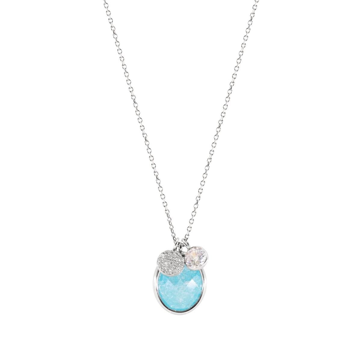 Collar en Plata con Gem Stone Azul Artre