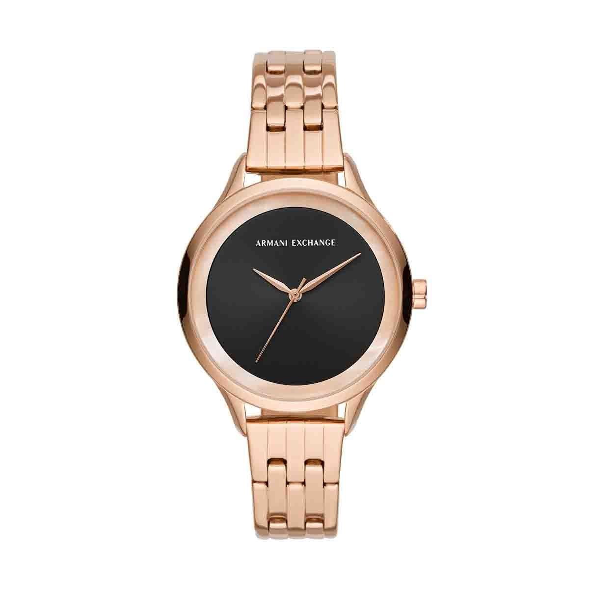 f8d79282d3f8 Reloj para dama color oro rosado armani exchange