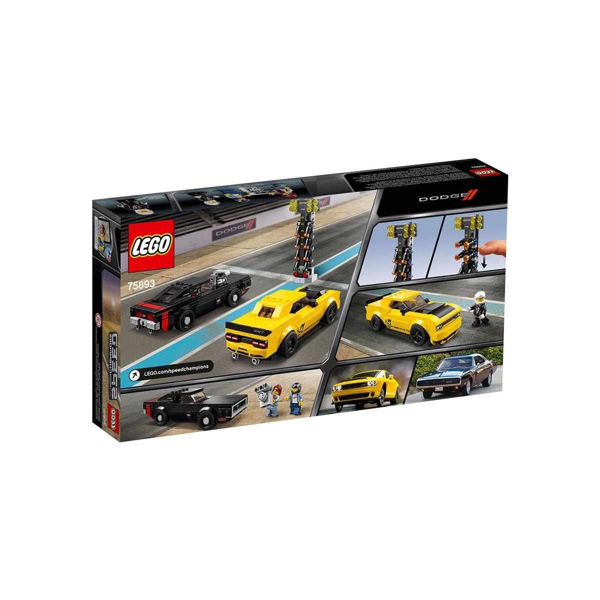 Dodge Challenger Demon 2018 y Dodge Charger 1970 Lego
