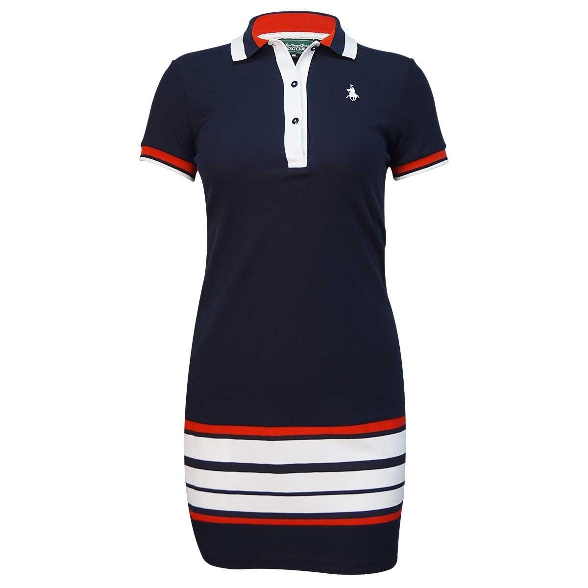 686579a0851a Vestido de franjas manga corta royal polo club