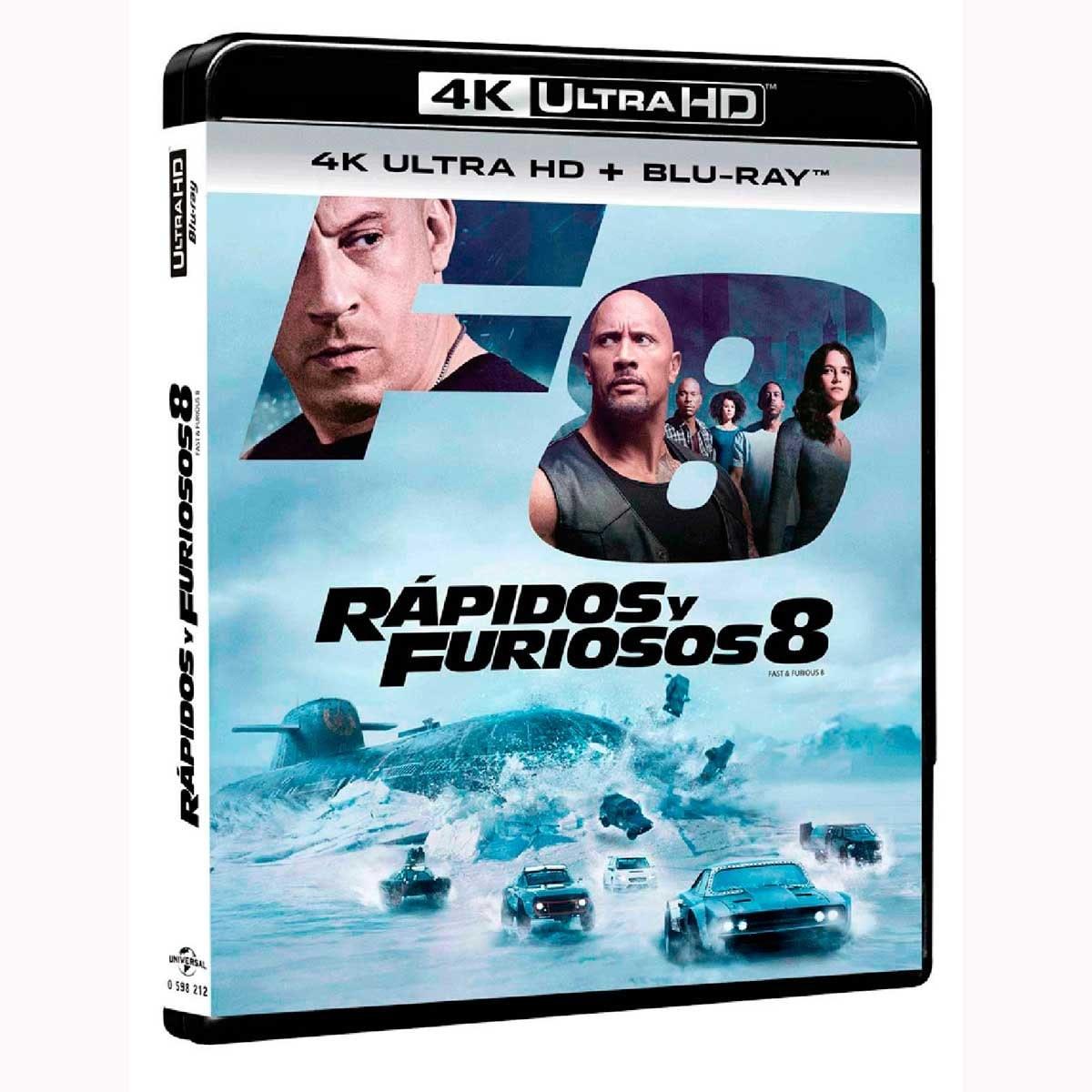 4K Ultra Hd + Blu Ray  Rapidos y Furiosos 8