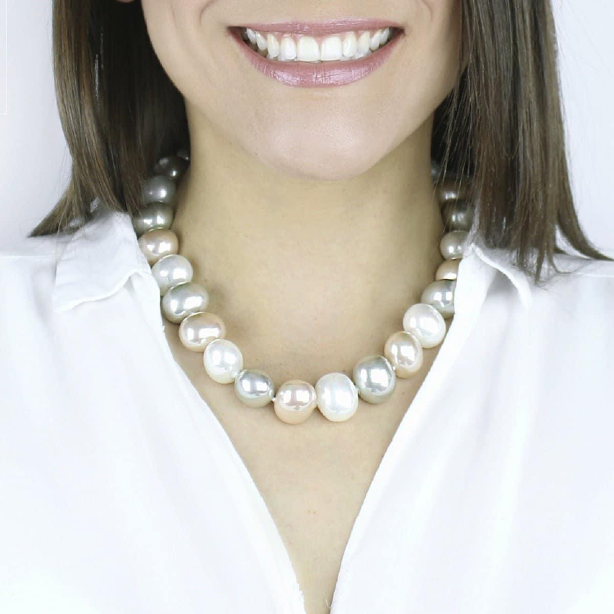 Collar Perlas Ovaladas Sidney