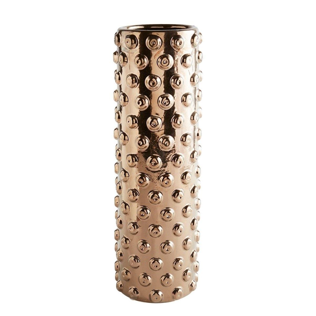 Vasija Ceramic Cylinder Gold  Pier 1 Imports