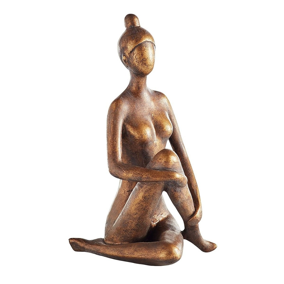 Figura Decorativa Bronze Yoga Woman With Bun Pier 1 Imports