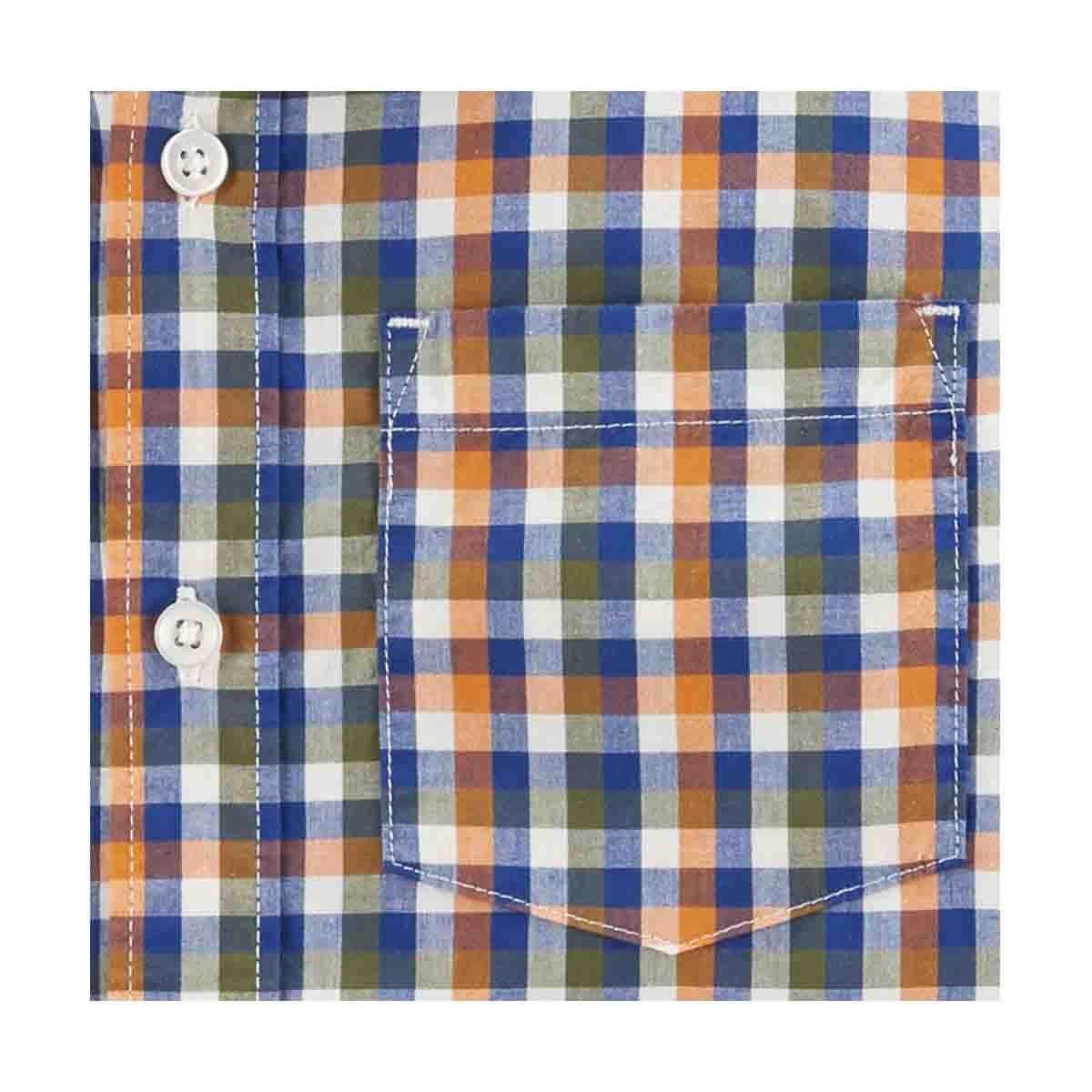 Camisa Color Naranja a Cuadros Carters