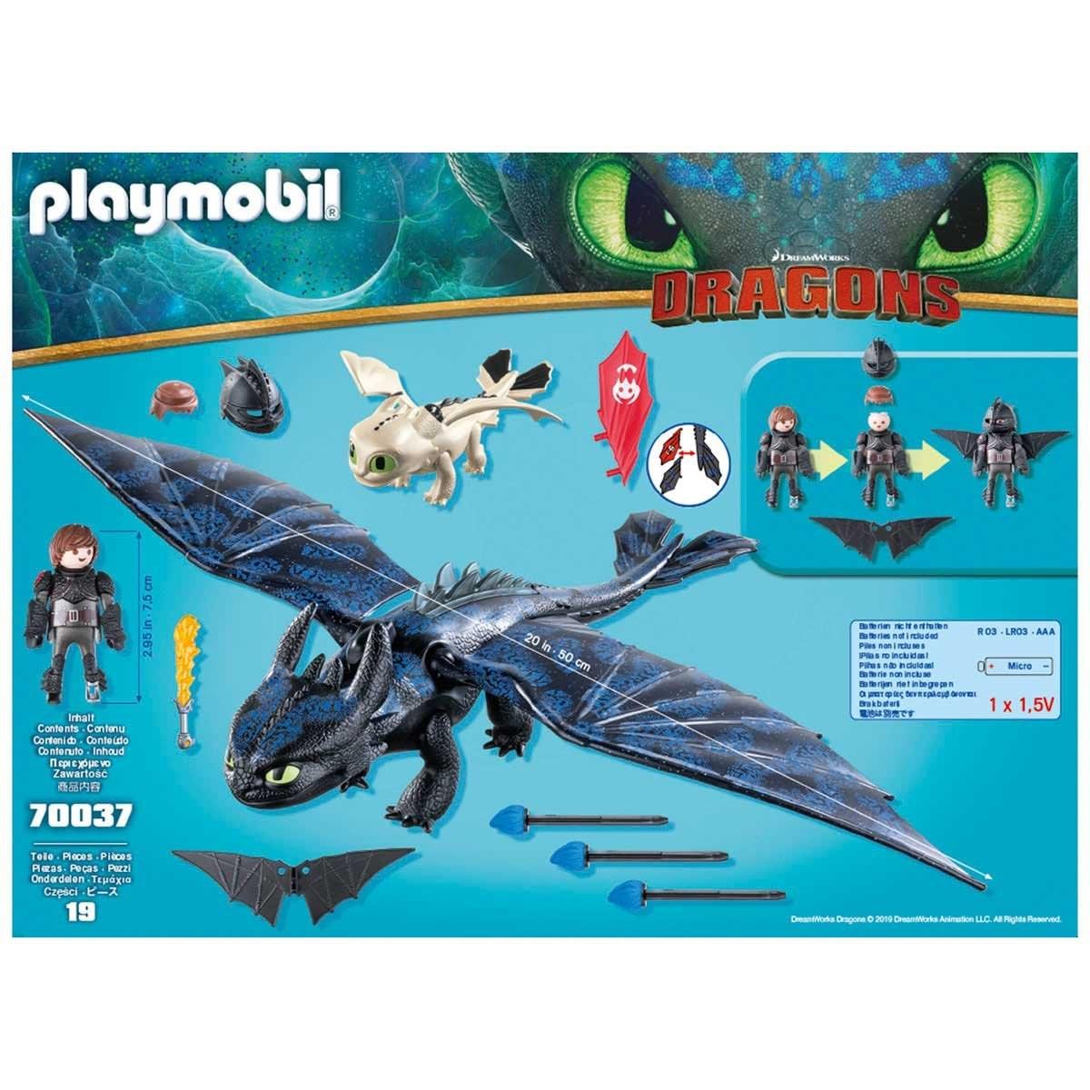 Hipo Y Chimuelo con Bebé Dragón Playmobil