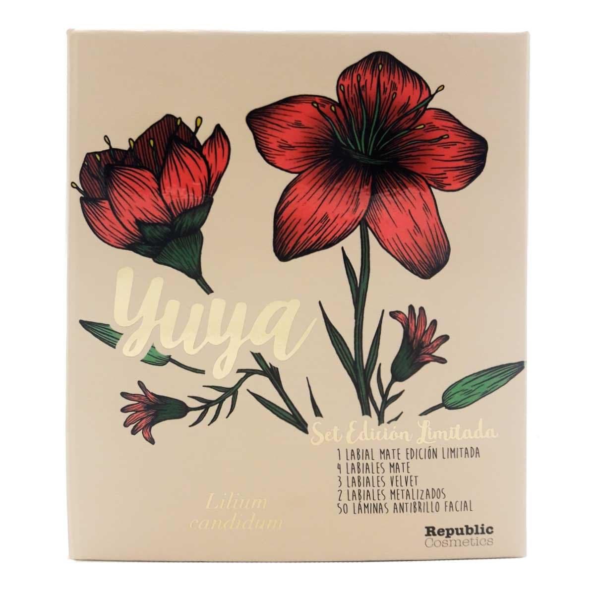 Set Edición Limitada 10 Labiales + Láminas Antibrillo Yuya