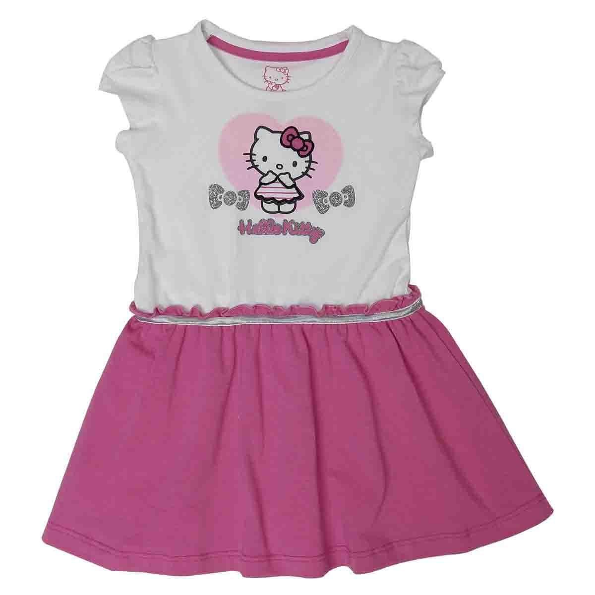 Vestido Manga Corta Estampado Hello Kitty para Bebé