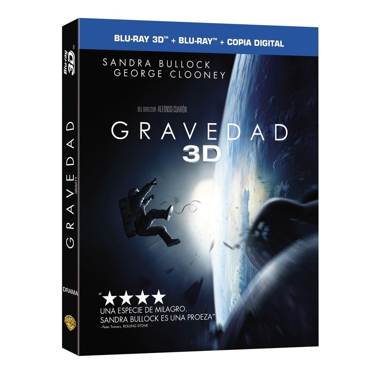 3D + Blu Ray + Dc Gravedad