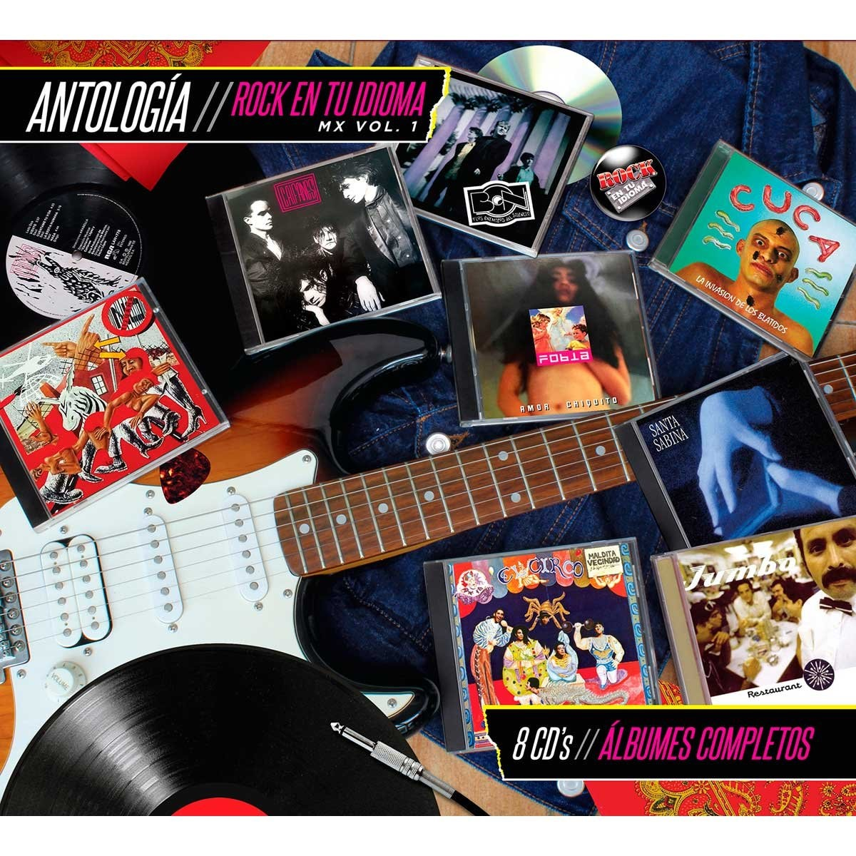 8 Cds Rock en Tu Idioma Vol. 1 Antologia