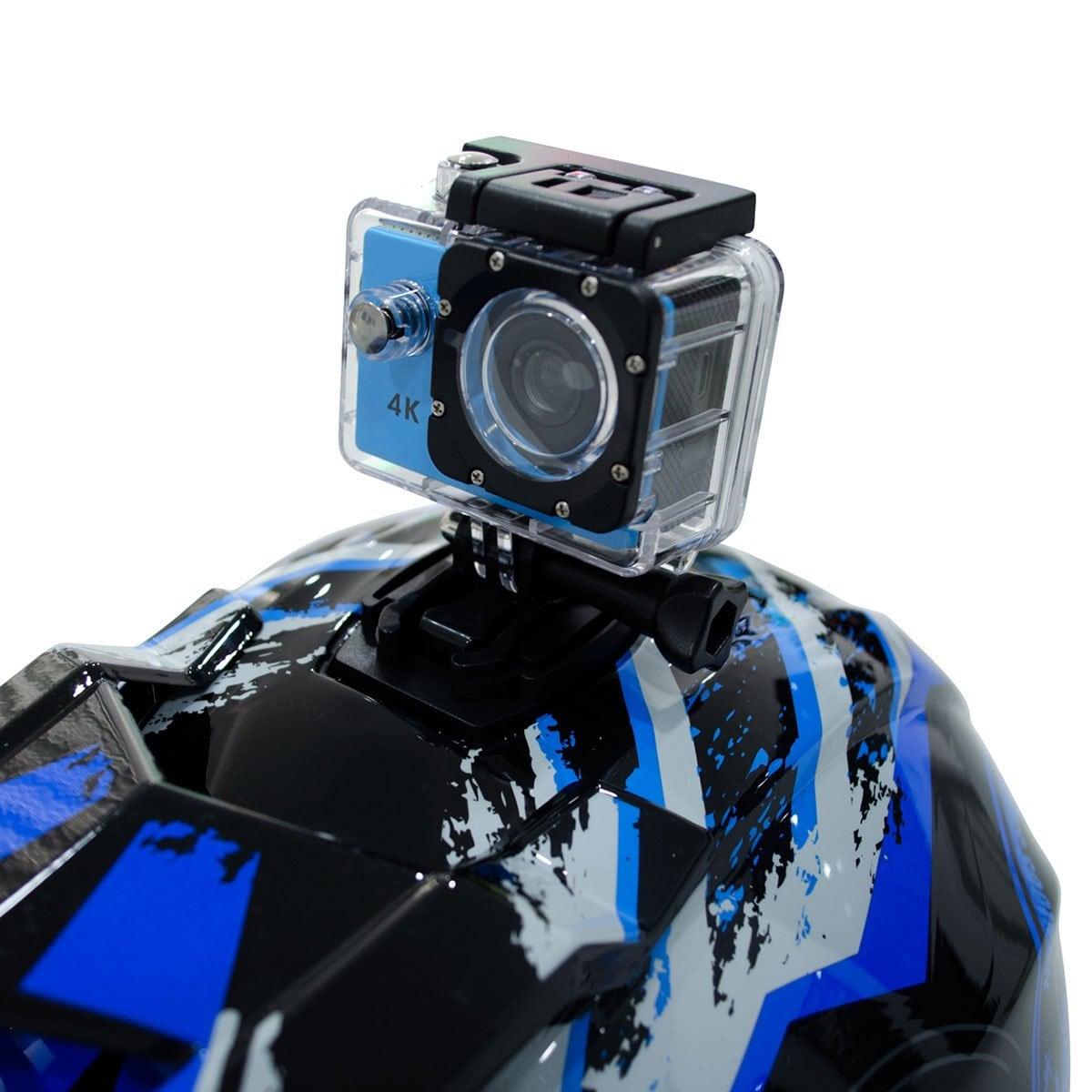 Casco Motocross Skull Azul Axus - Grande